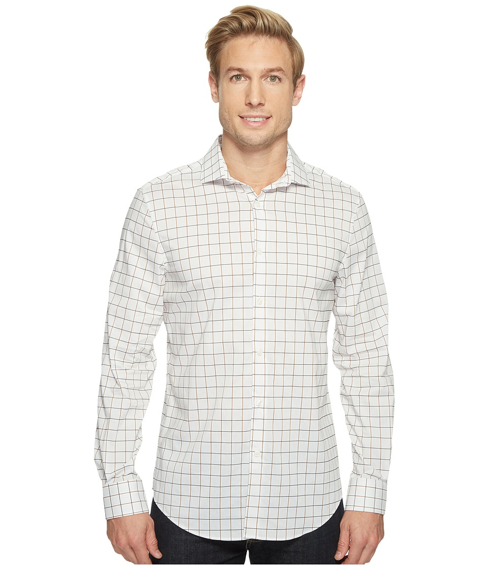 Perry Ellis - Long Sleeve Multicolor Check Shirt (Micro Chip) Men's Long Sleeve Button Up