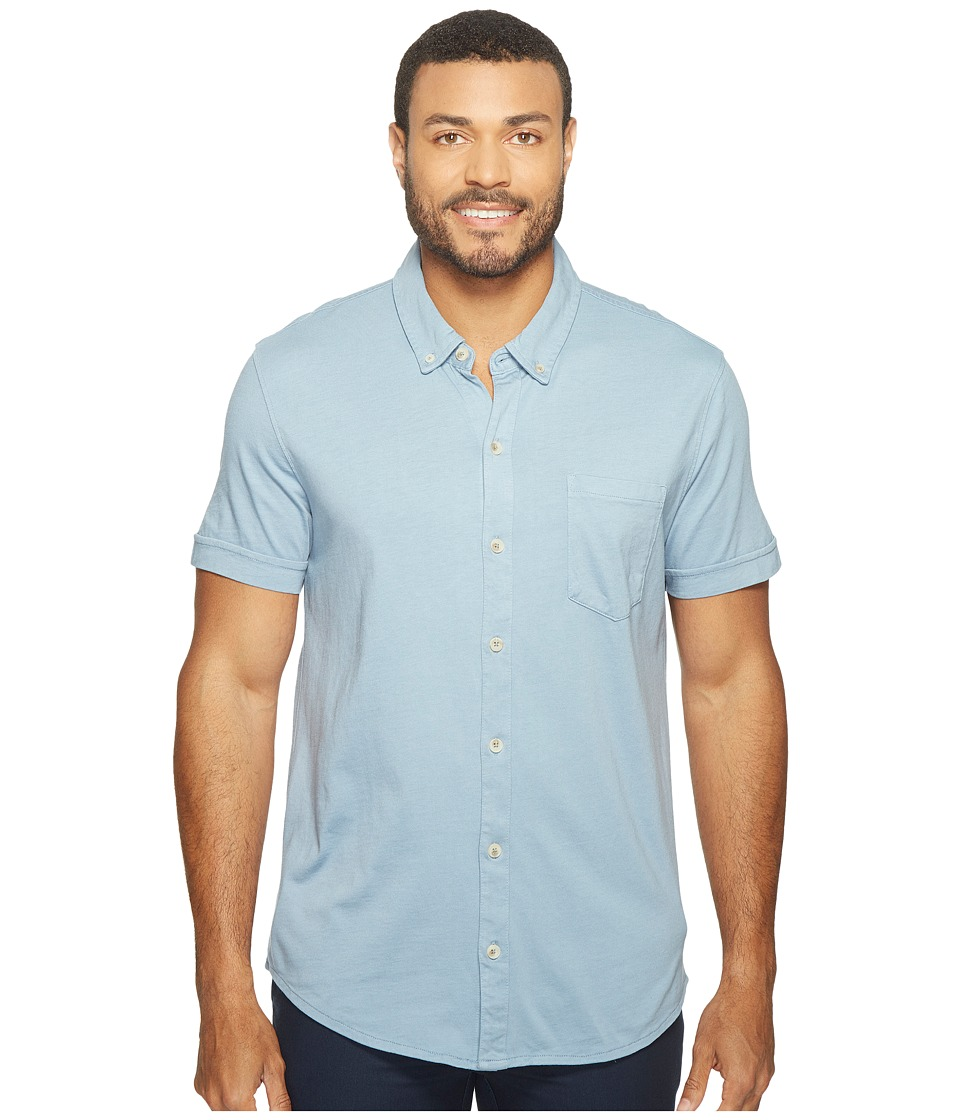 Mod-o-doc - Humboldt Short Sleeve Button Front Shirt (Fountain) Men's Short Sleeve Button Up