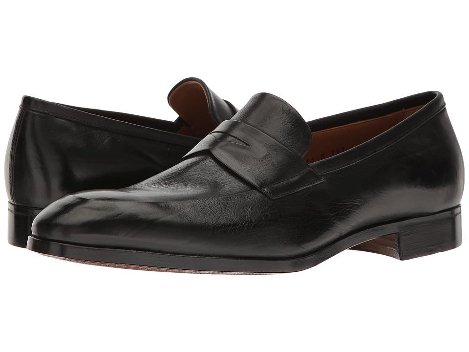 Gravati - Penny Loafer w/ Apron Toe (Black) Men's Shoes