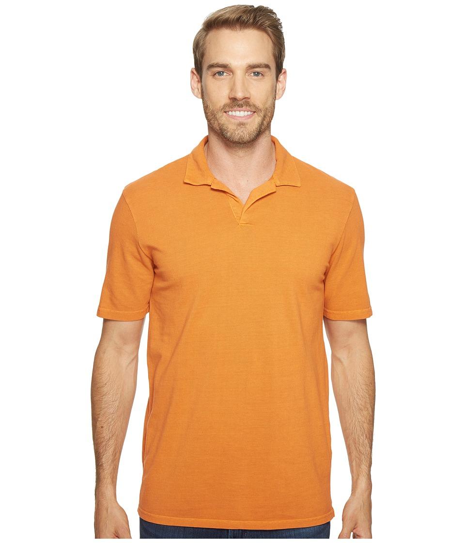Mod-o-doc - Pescadero Short Sleeve Johnny Collar Polo (Tropicana) Men's Short Sleeve Knit