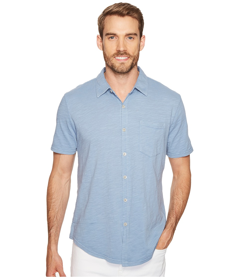 Mod-o-doc - Montana Short Sleeve Button Front Shirt (Fountain) Men's Short Sleeve Button Up