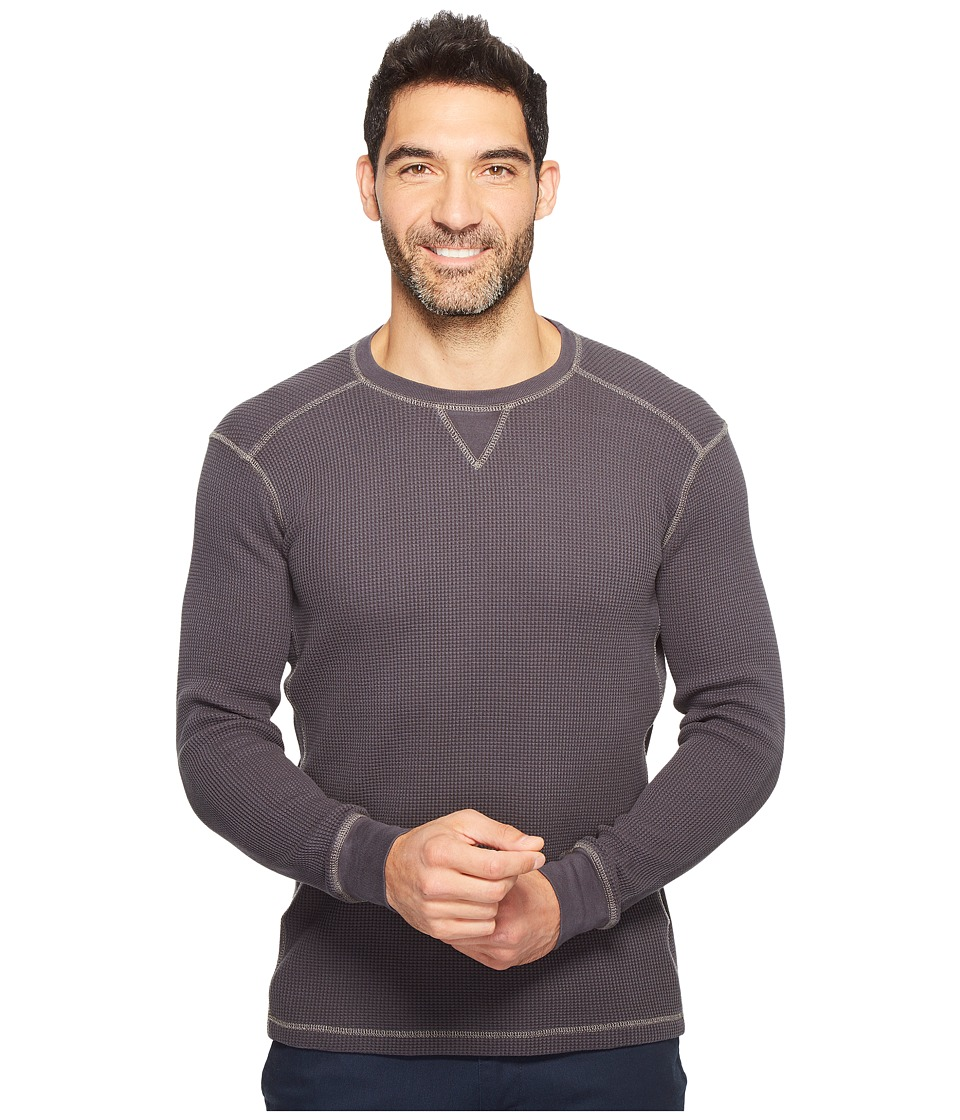 Mod-o-doc - Seacliff Long Sleeve Crew Thermal Crew (Fossil) Men's Long Sleeve Pullover