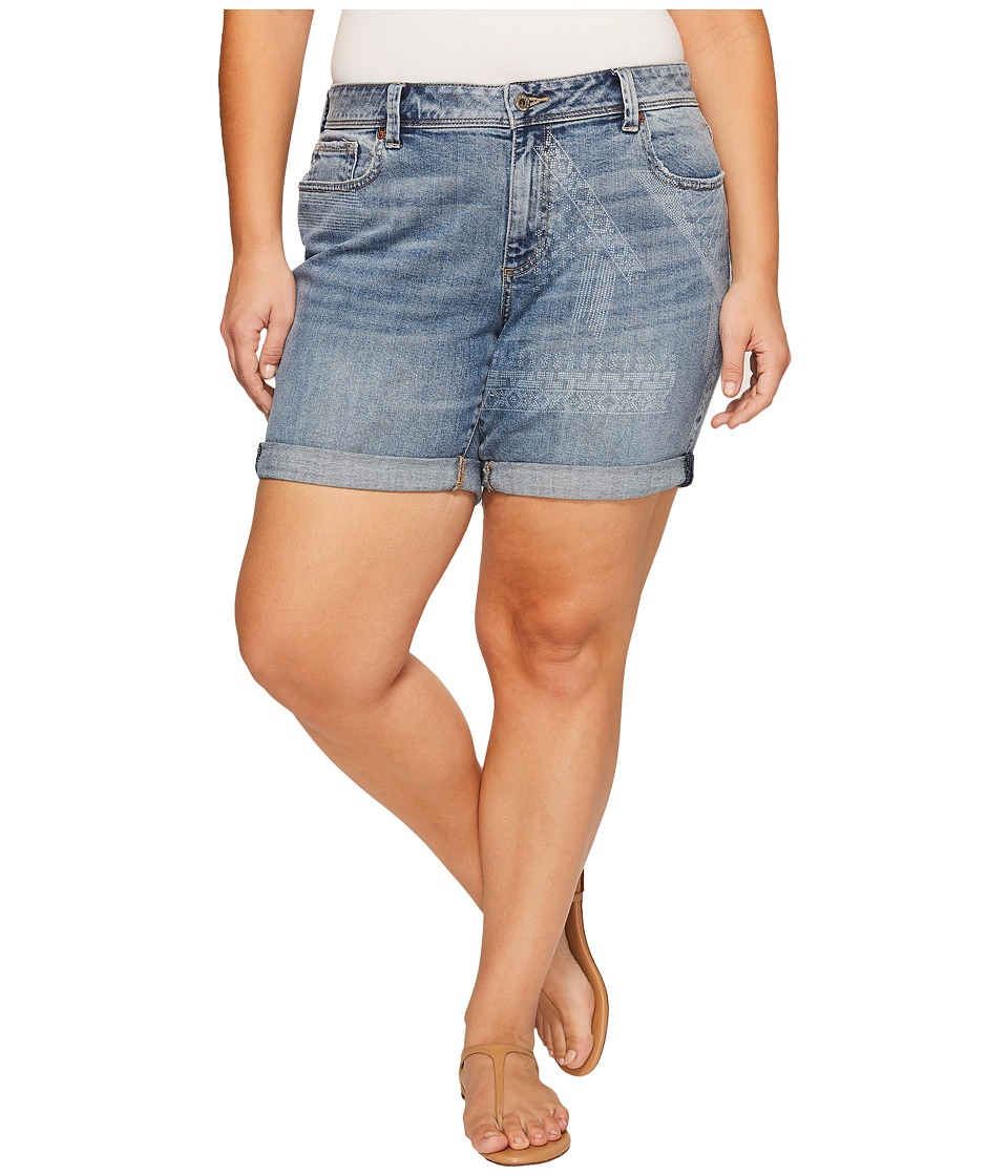 Lucky Brand - Plus Size Georgia Roll Up Shorts (Wichita Falls) Women's Shorts