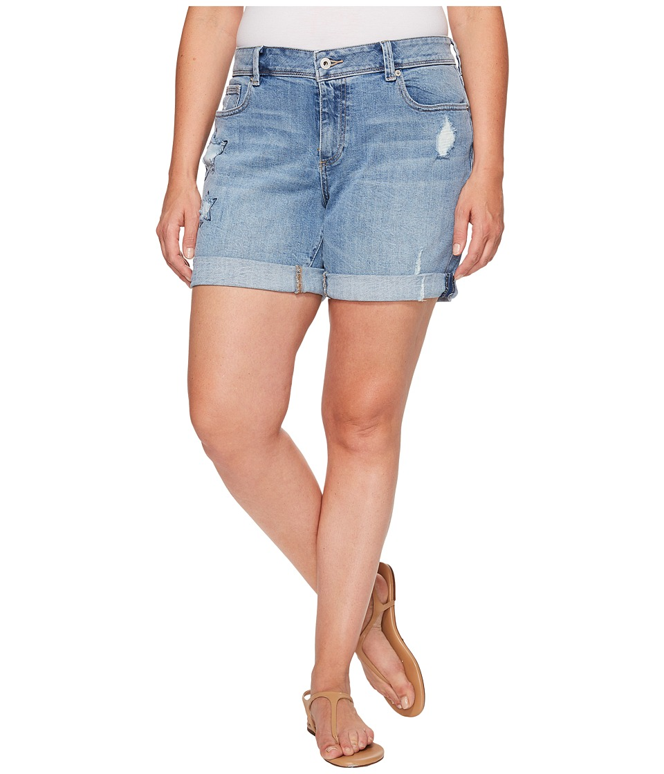 Lucky Brand - Plus Size Georgia Roll Up Shorts (Spring Branch) Women's Shorts