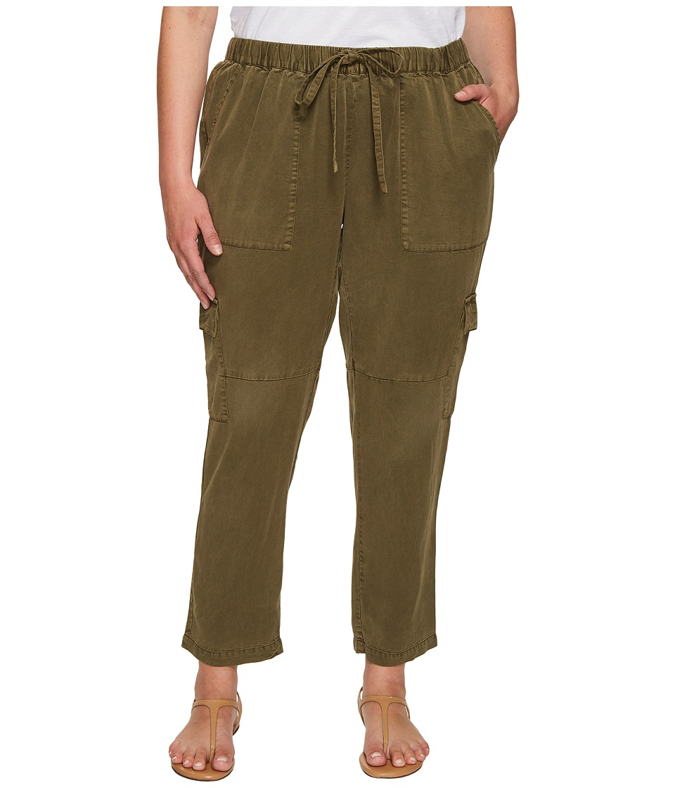Lucky Brand - Plus Size Solid Cargo Pants (Dark Olive) Women's Casual Pants