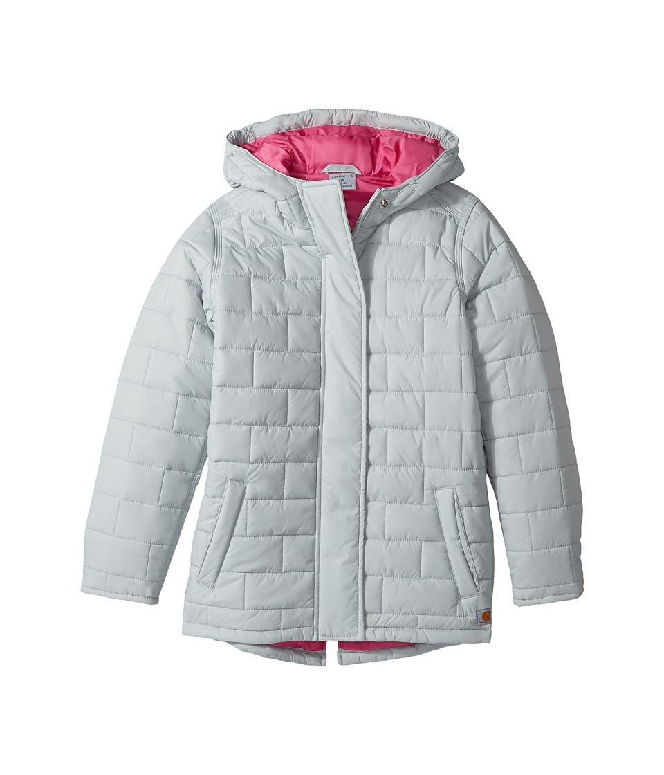 Carhartt Kids CG Puffer Jacket (Big Kids) (Light Onix Grey) Girl