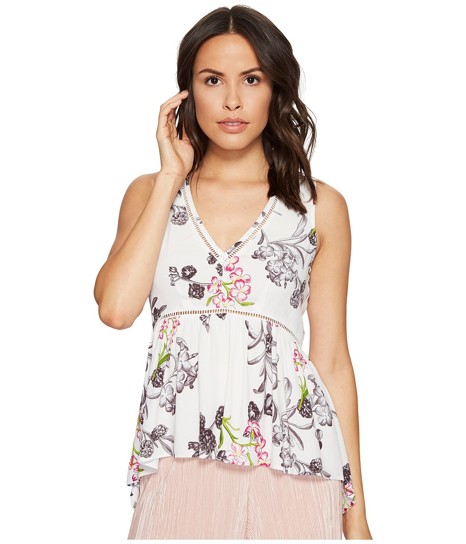 1.STATE - Sleeveless V-Neck High-Low Blouse (Cloud) Women's Blouse