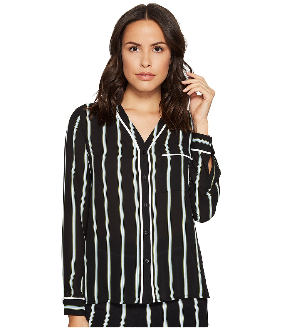 1.STATE - High-Low Pocket Blouse (Rich Black) Women's Blouse
