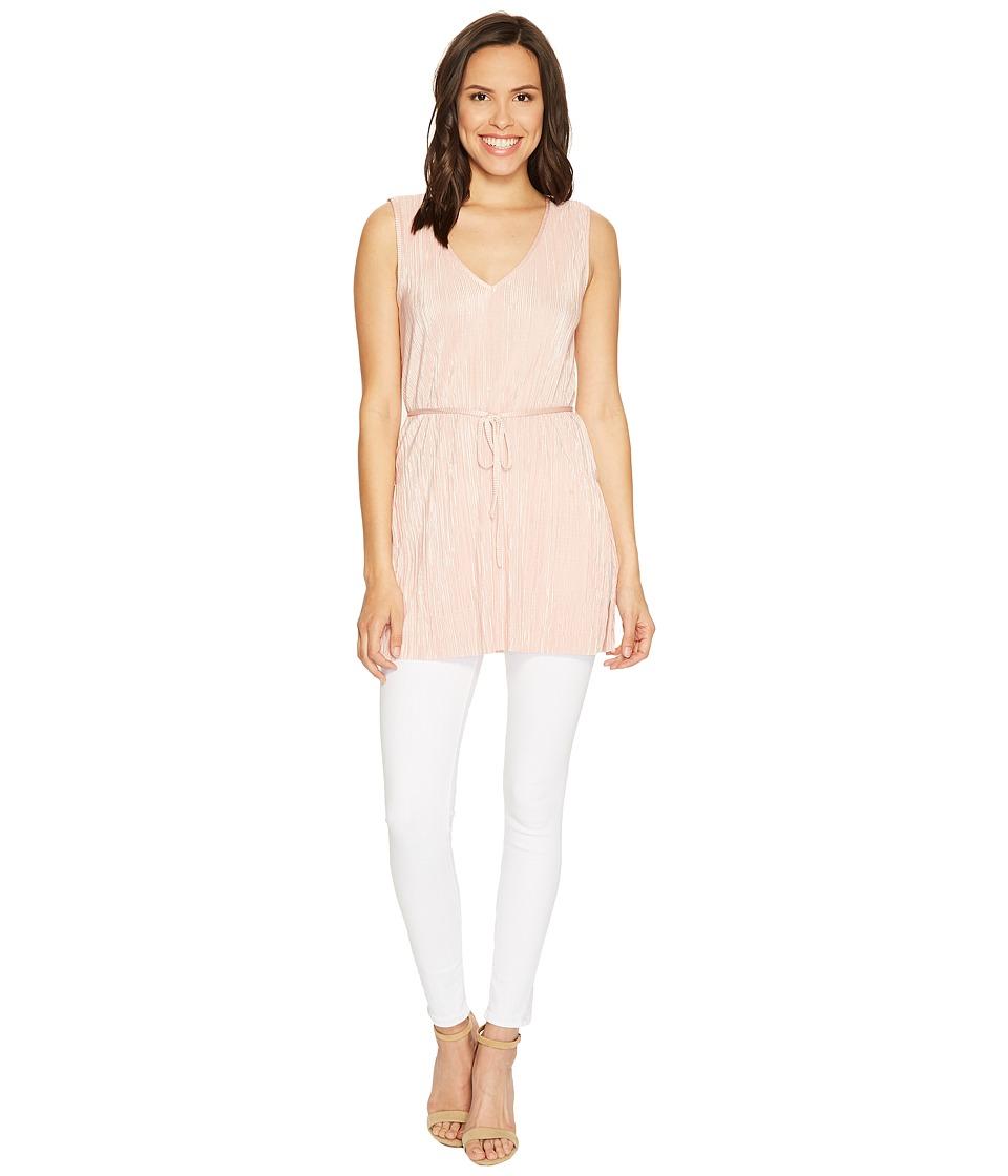 1.STATE - Sleeveless V-Neck Tunic (Rosy Flush) Women's Blouse