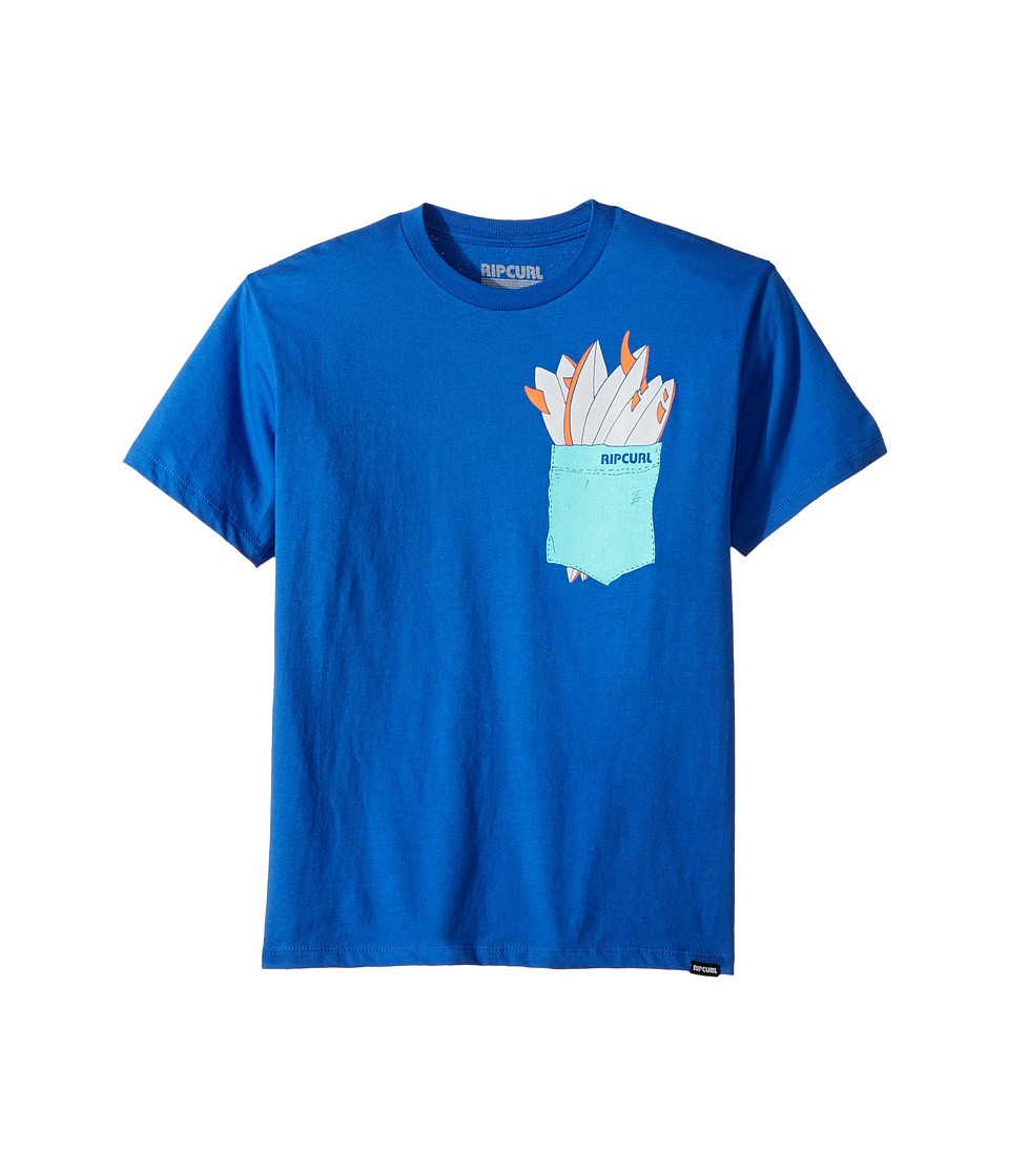Rip Curl Kids - Quiver Premium Tee (Big Kids) (Royal) Boy's T Shirt
