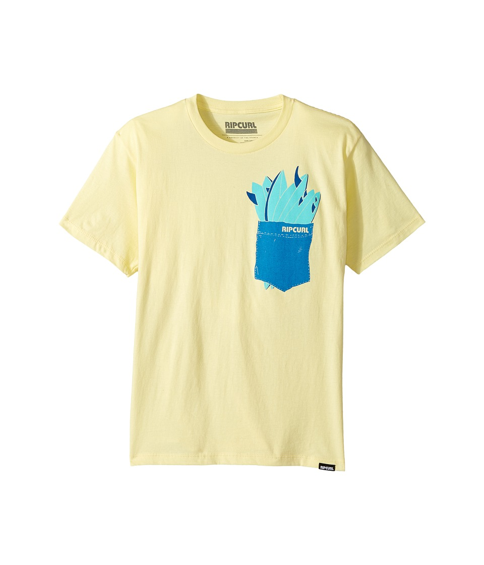 Rip Curl Kids - Quiver Premium Tee (Big Kids) (Yellow) Boy's T Shirt