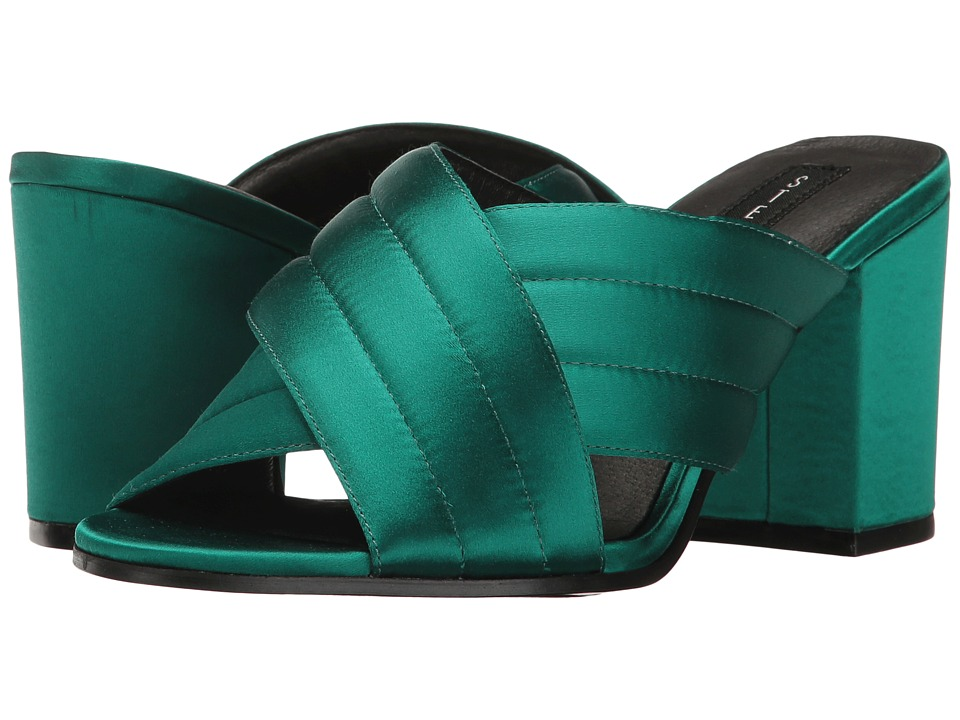 Steven - Zada (Green Fabric) Women's Shoes