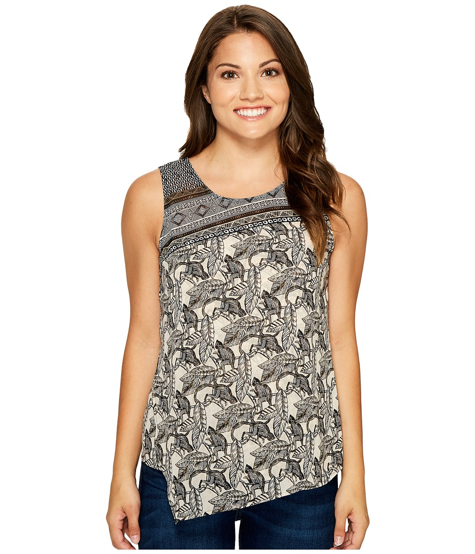 NIC+ZOE - Petite Mirrored Monkeys Tank (Multi) Women's Sleeveless
