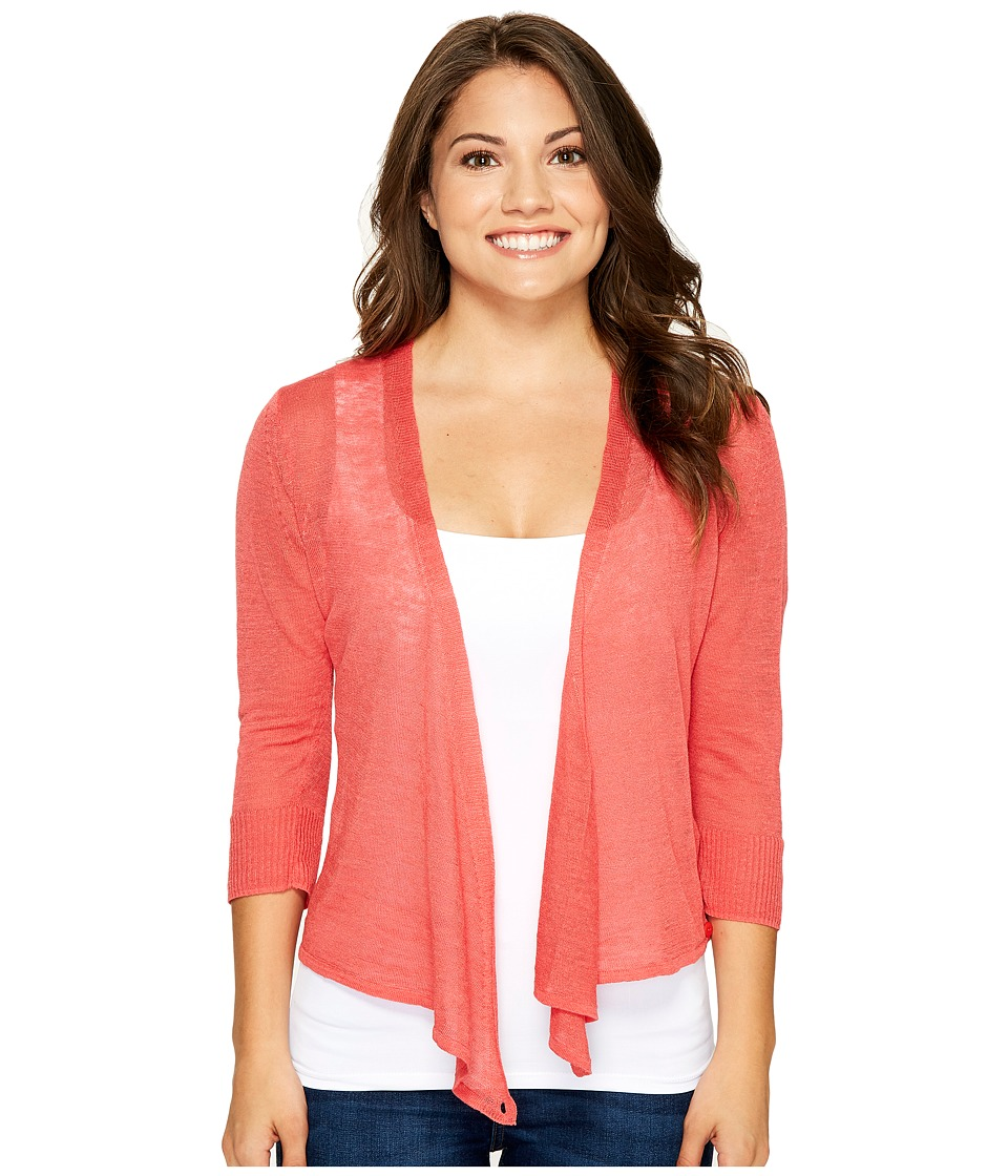 NIC+ZOE - Petite Four-Way Cardy (Coral Crush) Women's Sweater