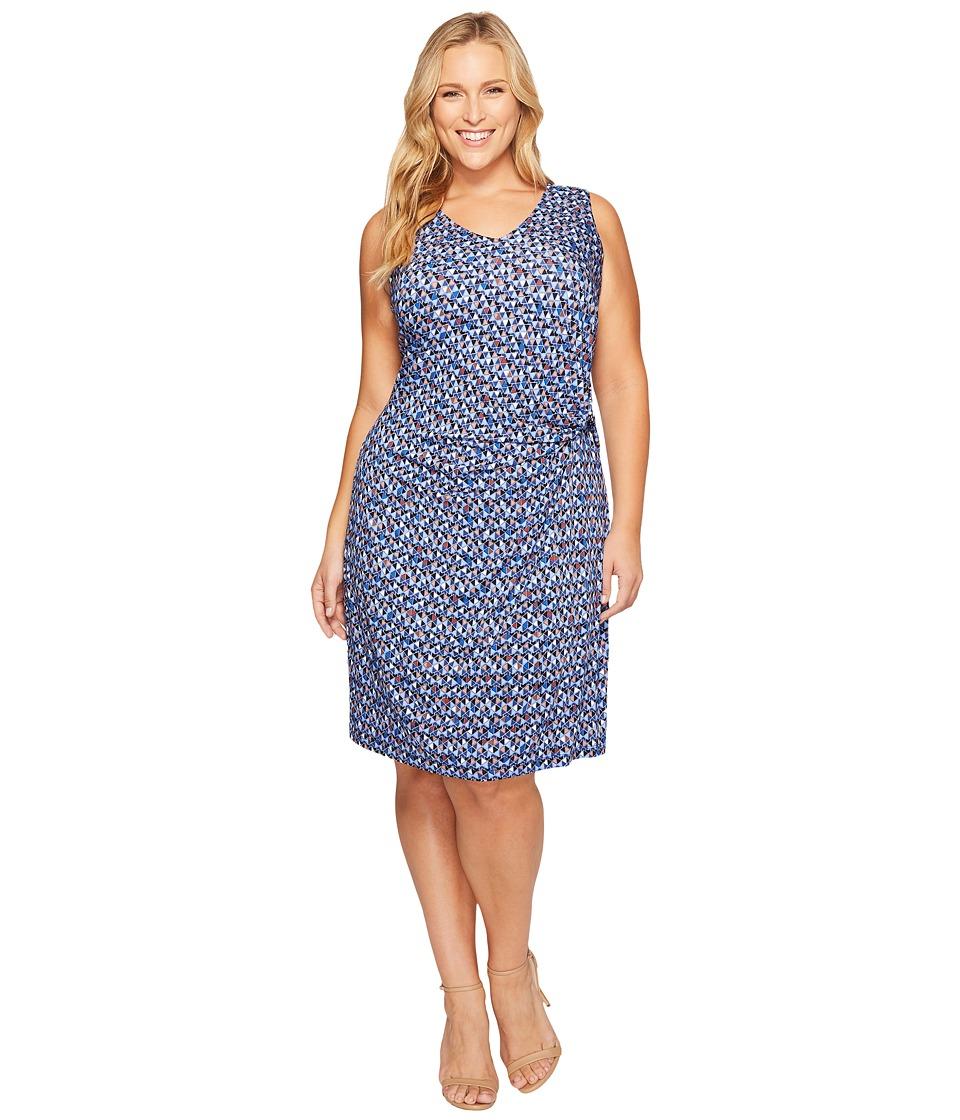 NIC+ZOE - Plus Size Triangle Tiles Dress (Multi) Women's Dress