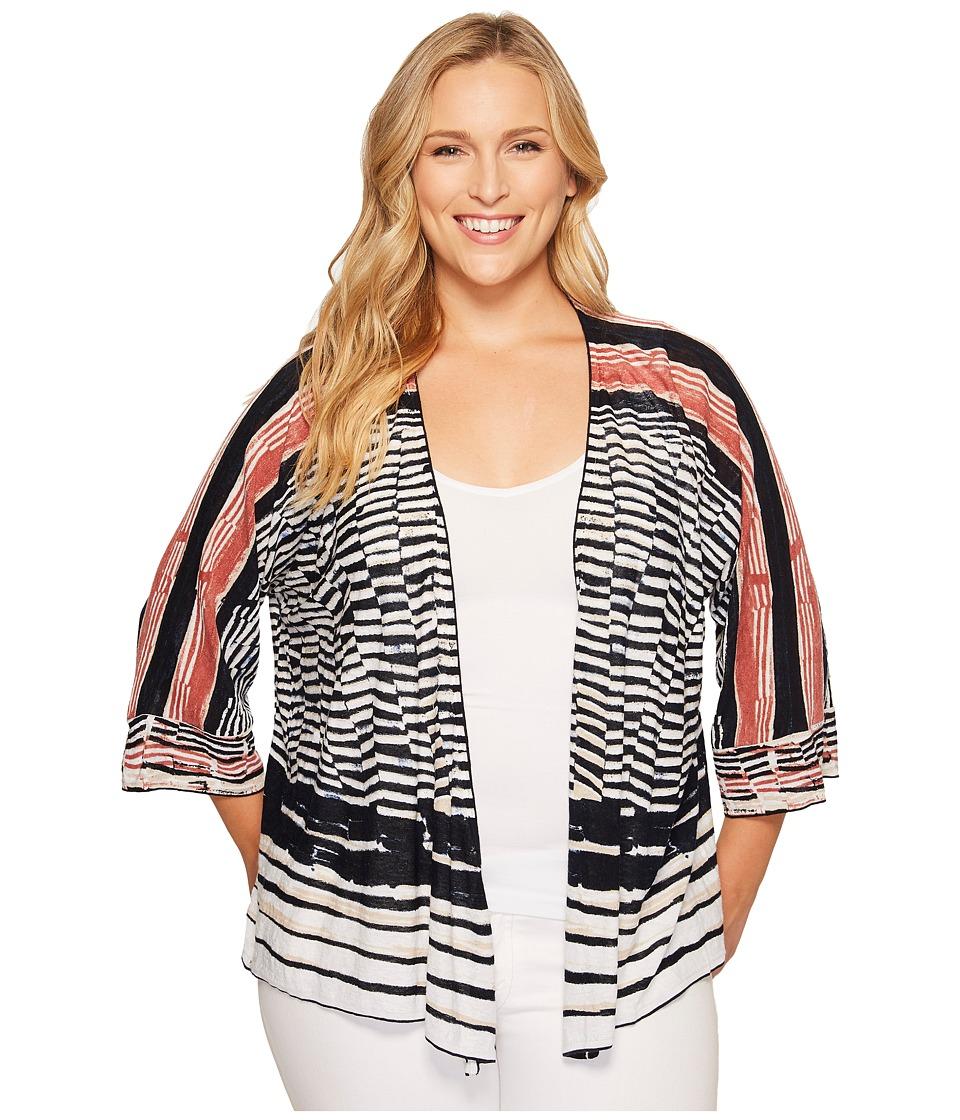 NIC+ZOE - Plus Size Blue Nile Cardy (Multi) Women's Sweater