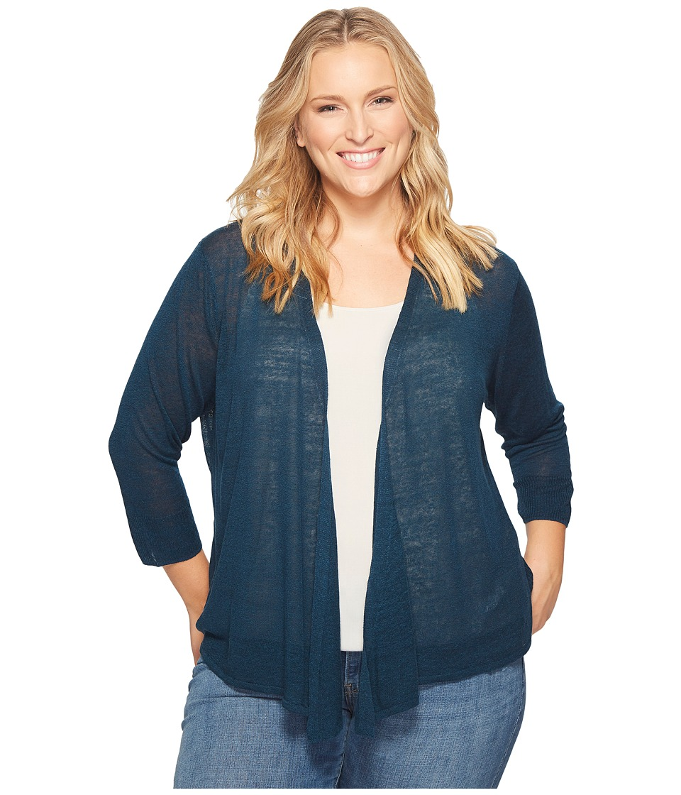 NIC+ZOE - Plus Size Four-Way Cardy (Baltic) Women's Sweater