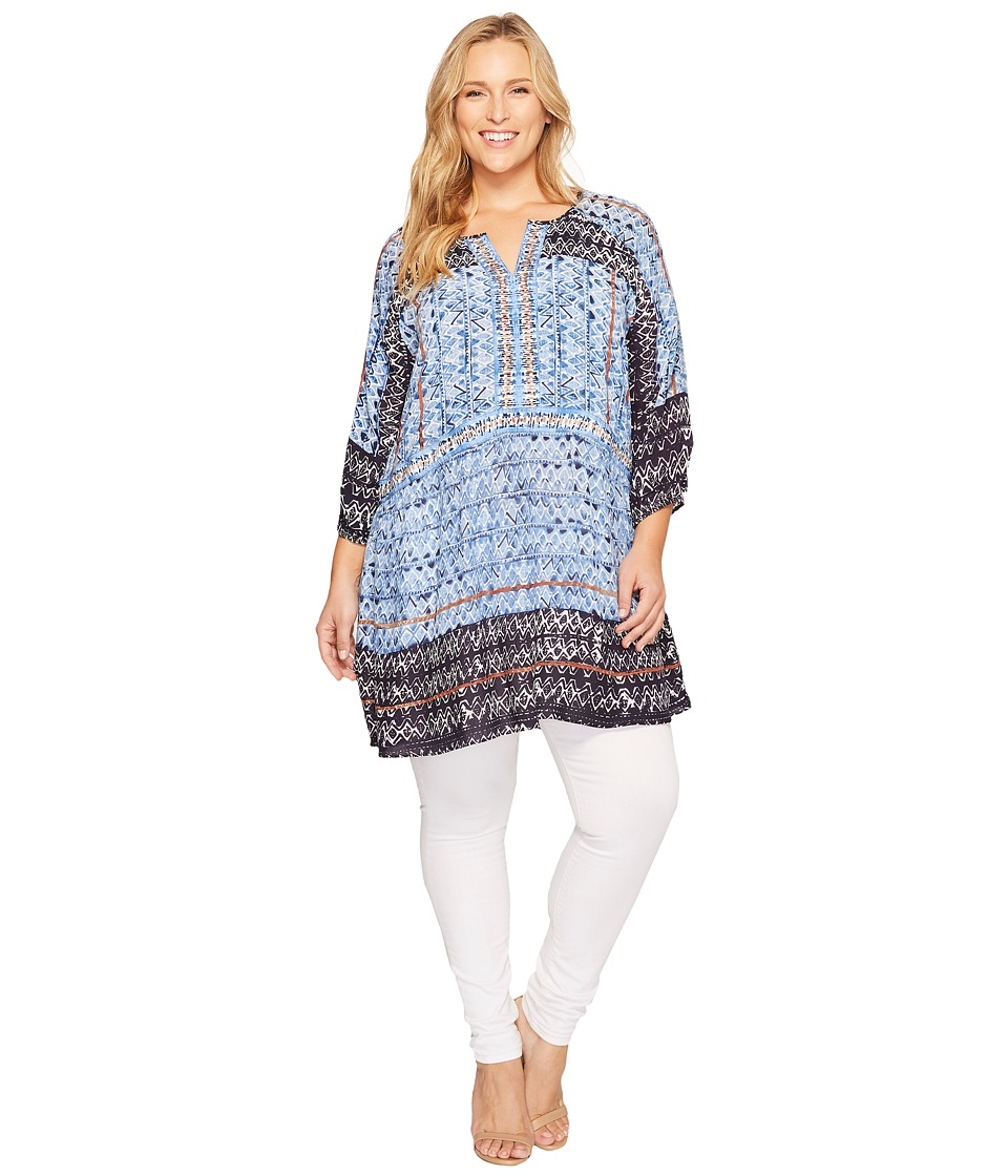 NIC+ZOE - Plus Size Sunny Days Tunic Top (Multi) Women's Clothing