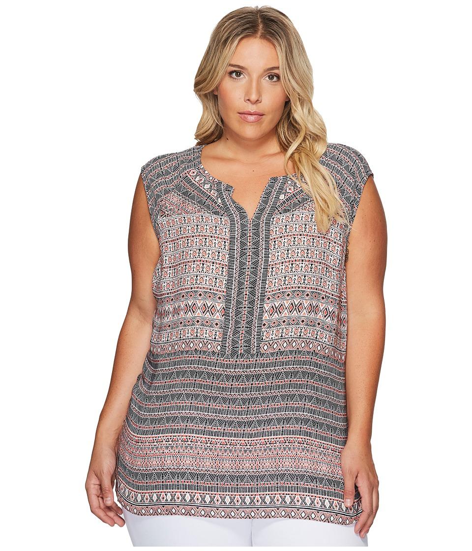 NIC+ZOE - Plus Size Summer Solstice Top (Multi) Women's Clothing