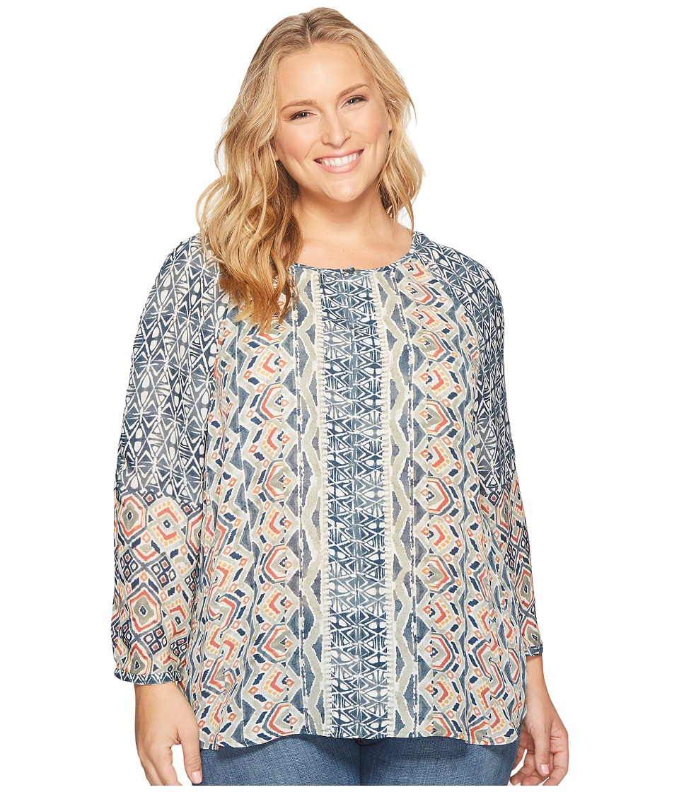 NIC+ZOE - Plus Size Surfside Shirt (Multi) Women's T Shirt