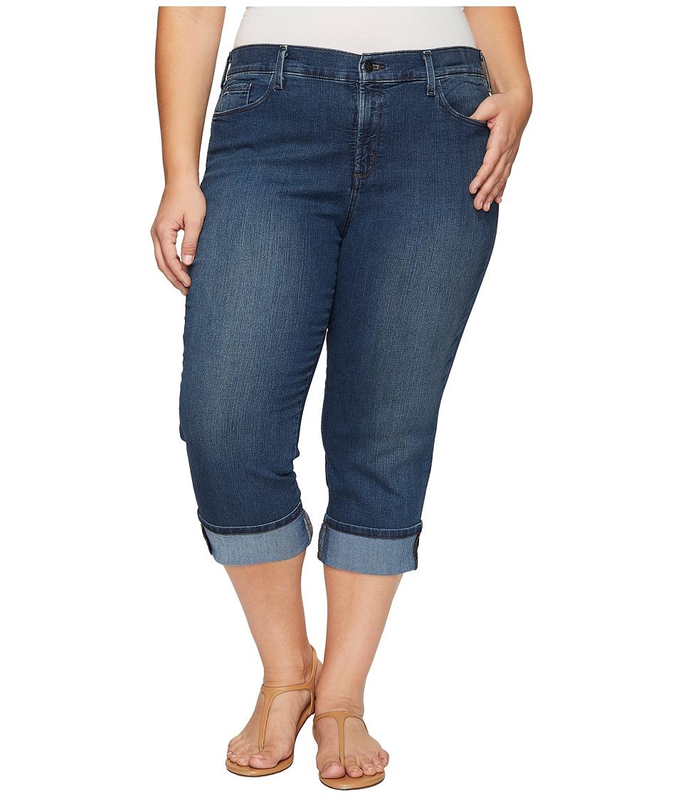 NYDJ Plus Size - Plus Size Dayla Wide Cuff Capris in Nottingham (Nottingham) Women's Jeans