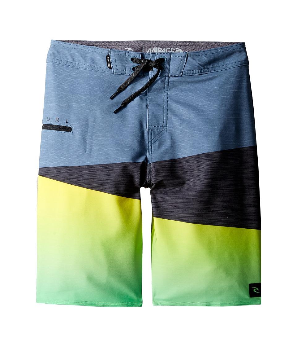 Rip Curl Kids - Mirage Wedge Boardshorts (Big Kids) (Green) Boy's Swimwear