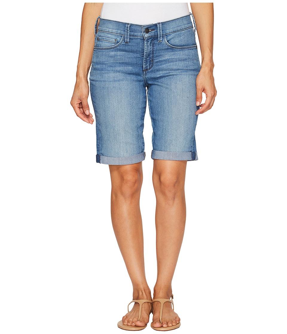 NYDJ Petite - Petite Briella Roll Cuff Shorts in Jet Stream (Jet Stream) Women's Shorts
