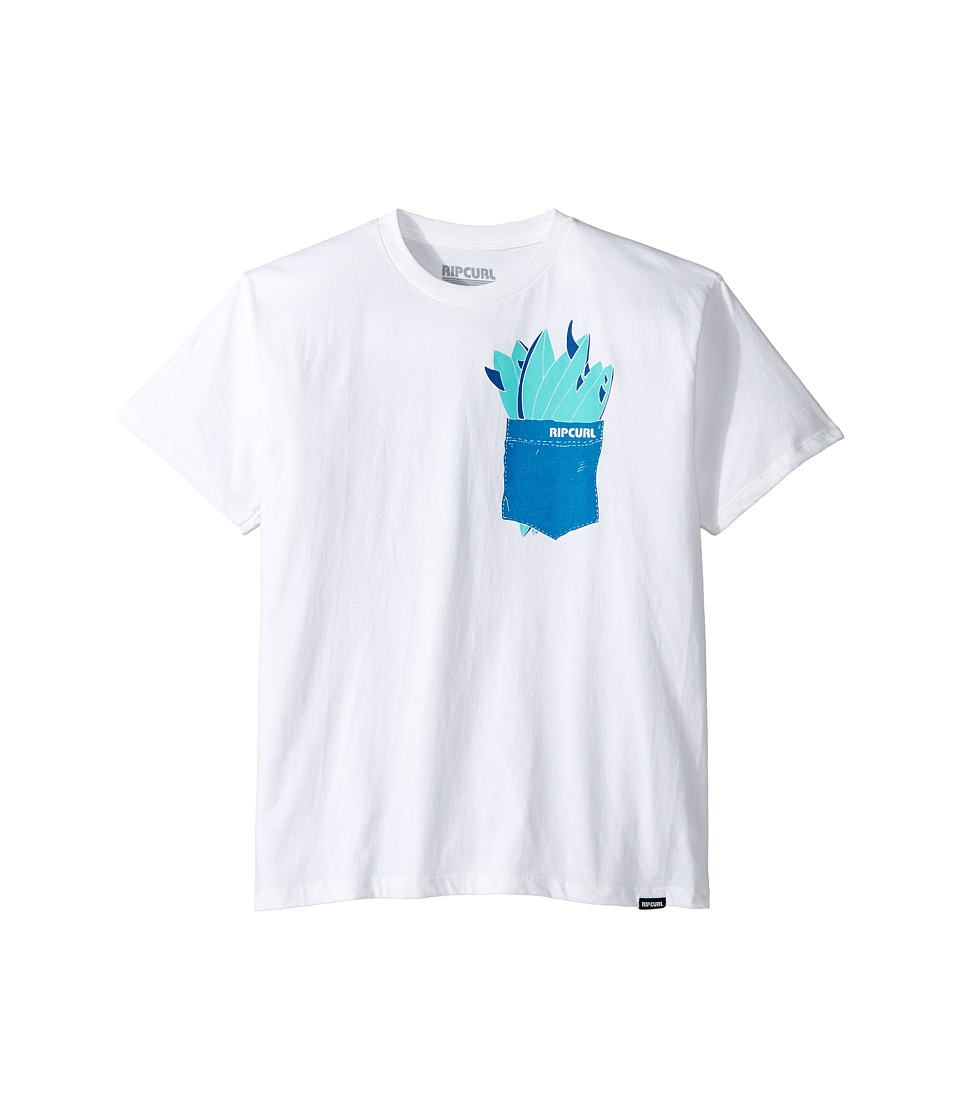 Rip Curl Kids - Quiver Premium Tee (Big Kids) (White) Boy's T Shirt
