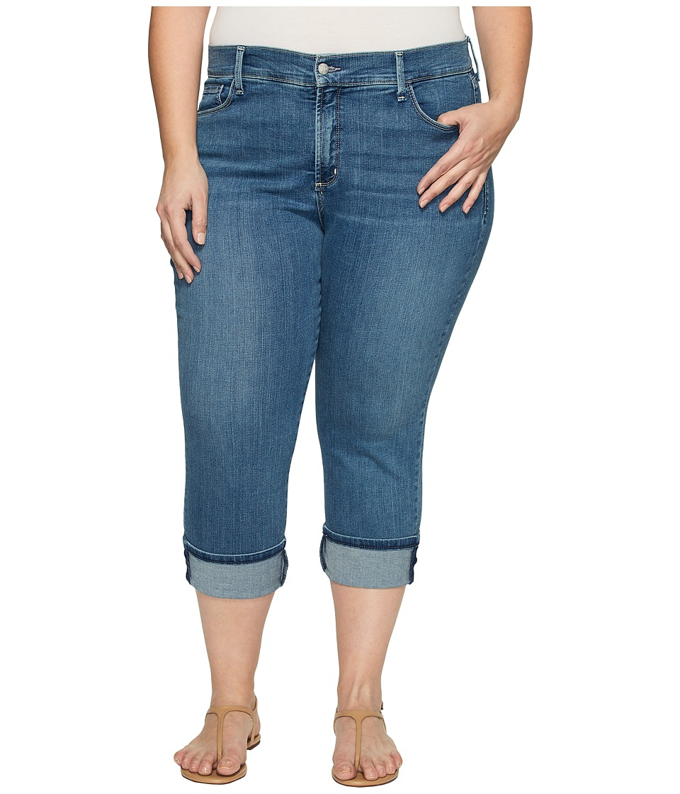 NYDJ Plus Size Plus Size Dayla Wide Cuff Capris in Heyburn Wash (Heyburn Wash) Women