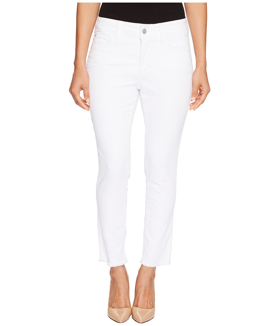 NYDJ Petite - Petite Alina Ankle with Fray Hem in Optic White (Optic White) Women's Casual Pants