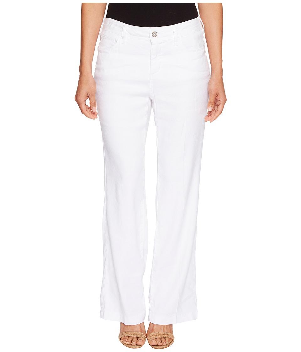NYDJ Petite Petite Wylie Trousers in Optic White (Optic White) Women