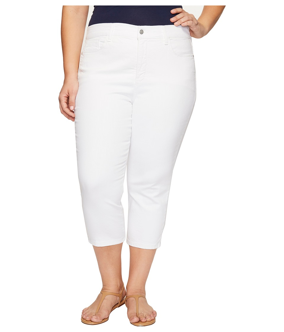 NYDJ Plus Size Plus Size Alina Capris in Optic White (Optic White) Women