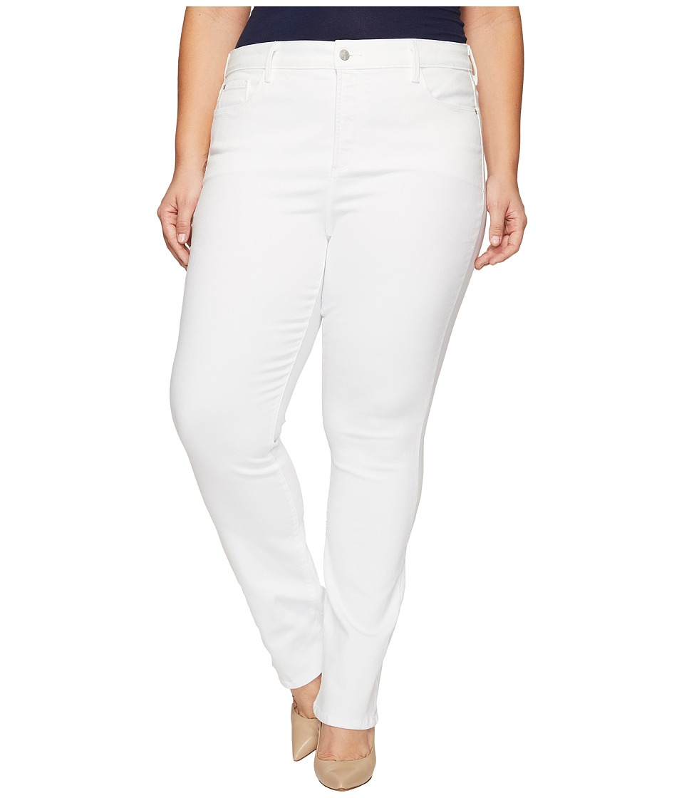 NYDJ Plus Size - Plus Size Marilyn Straight Jeans in Endless White (Endless White) Women's Jeans
