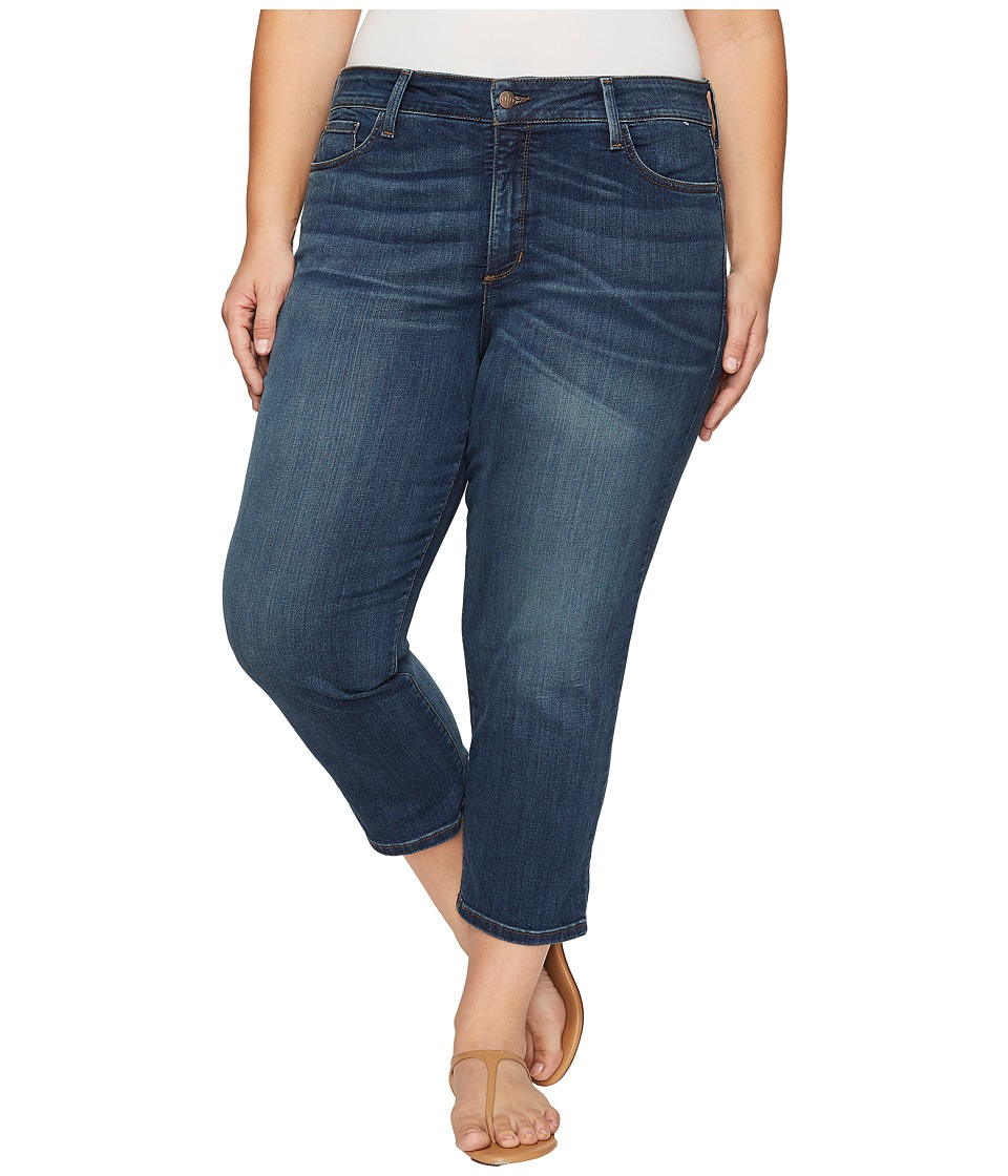 NYDJ Plus Size Plus Size Marilyn Capris in Oak Hill (Oak Hill) Women