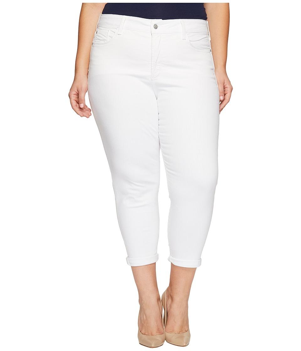 NYDJ Plus Size - Plus Size Alina Convertible Ankle in Optic White (Optic White) Women's Jeans