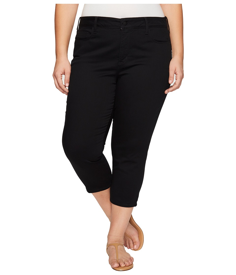 NYDJ Plus Size - Plus Size Alina Capris in Black (Black) Women's Jeans