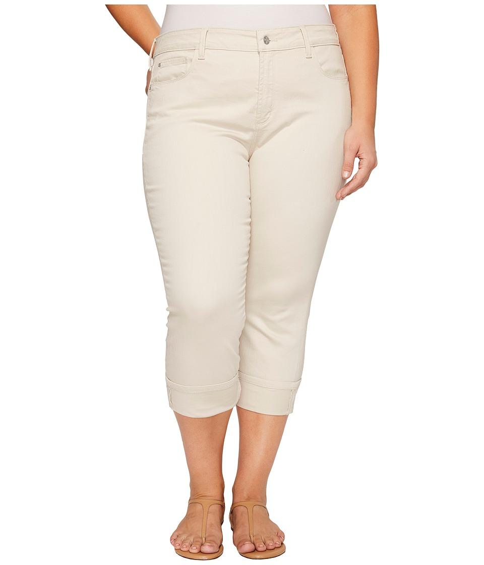 NYDJ Plus Size - Plus Size Dayla Wide Cuff Capris in Clay (Clay) Women's Jeans