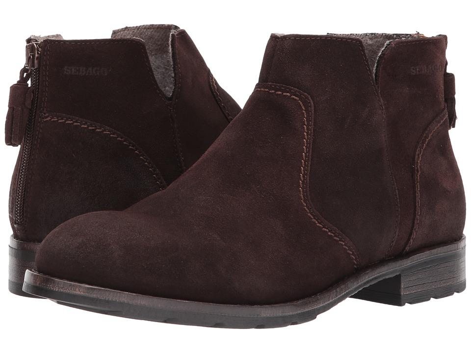 Sebago Laney Ankle Boot (Dark Brown Waxy Suede) Women