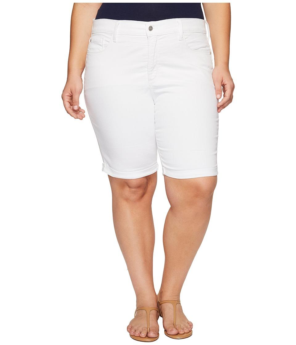 NYDJ Plus Size - Plus Size Briella Shorts in Optic White (Optic White) Women's Shorts