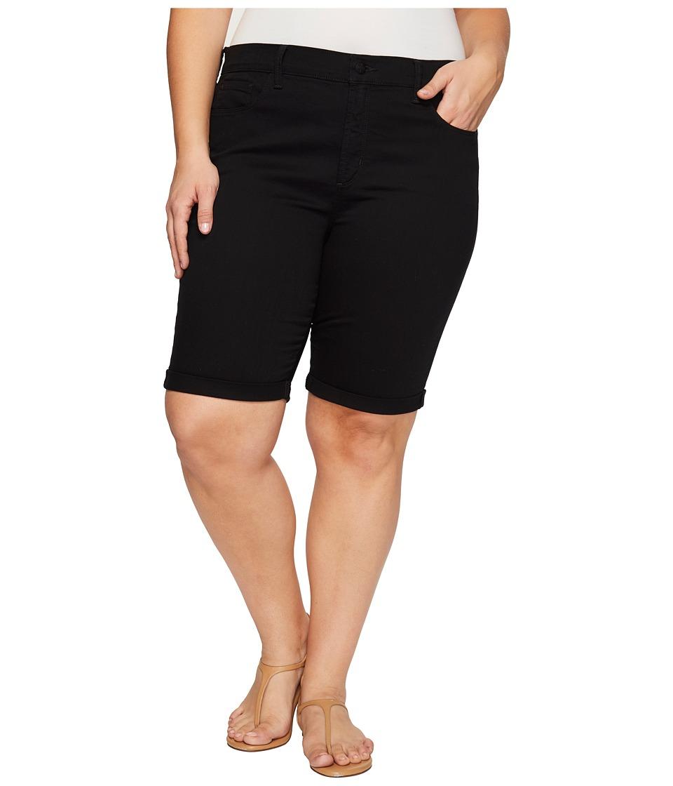 NYDJ Plus Size - Plus Size Briella Shorts in Black (Black) Women's Shorts