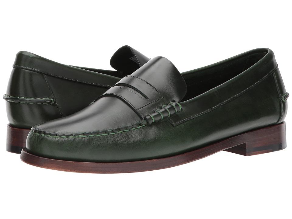 Sebago Legacy Penny (Green Leather) Men