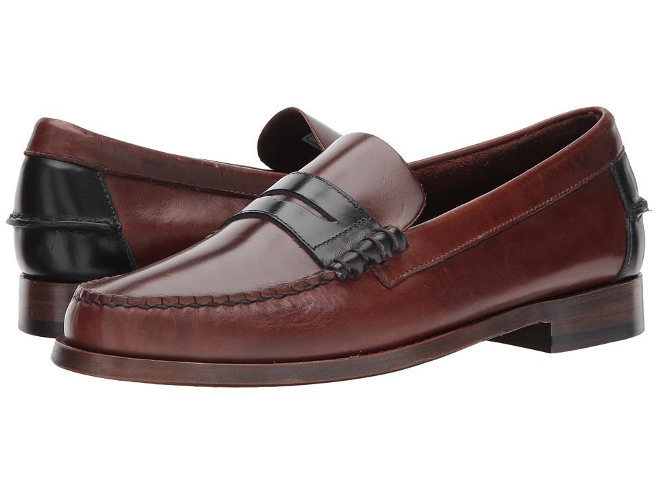 Sebago Legacy Penny (Dark Brown/Navy Leather) Men