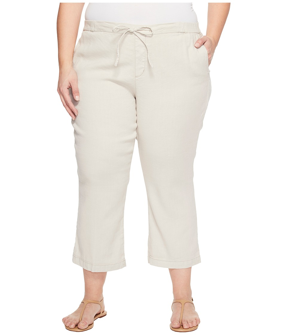 NYDJ Plus Size - Plue Size Drawstring Ankle Pants in Stone (Stone) Women's Jeans