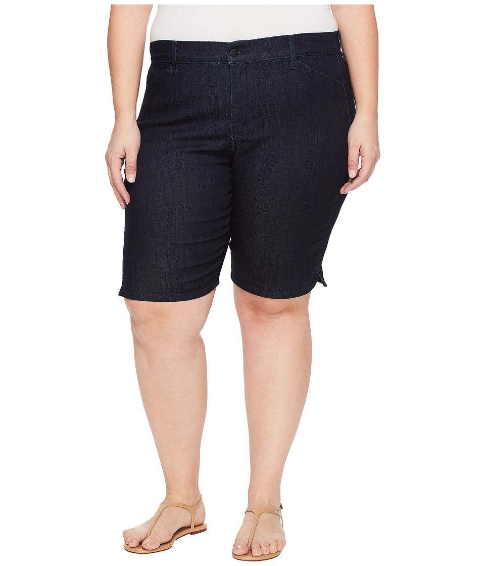 NYDJ Plus Size - Plue Size Christy Shorts in Dark Enzyme Wash (Dark Enzyme Wash) Women's Shorts
