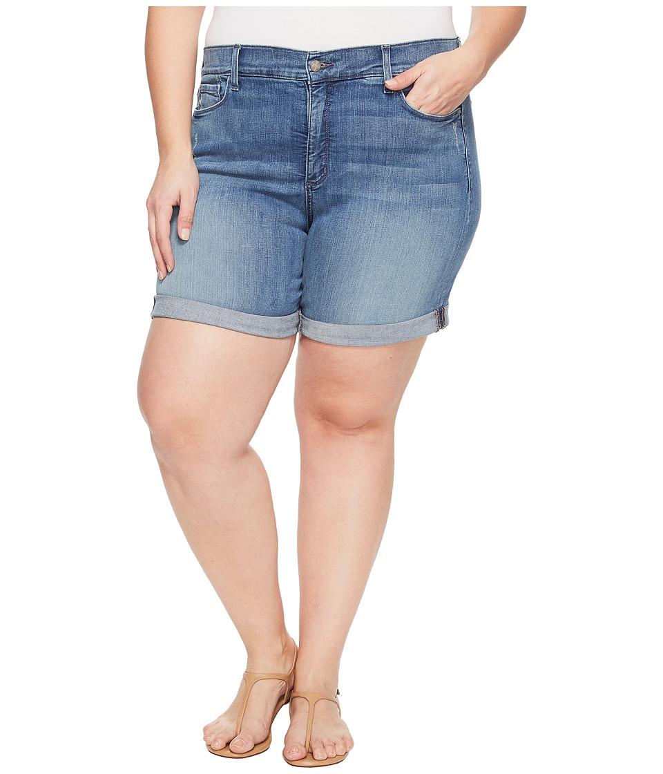 NYDJ Plus Size - Plue Size Jessica Boyfriend Shorts in Paloma Rips (Paloma Rips) Women's Shorts