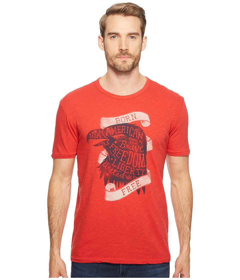 Lucky Brand - Born Free Graphic Tee (Pompeian Red) Men's T Shirt