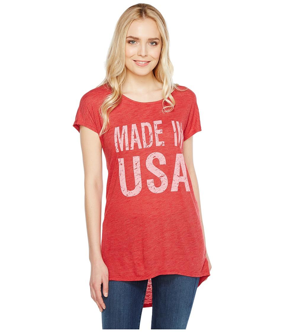Allen Allen - Made in USA Cap Sleeve Tee (Rio) Women's T Shirt