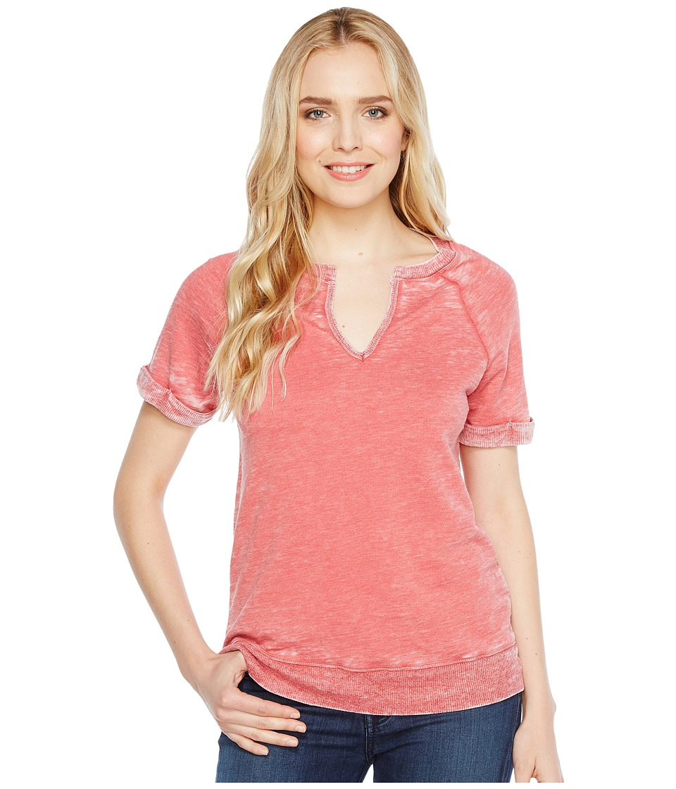 Allen Allen - Split-Neck Crew (Rio) Women's Clothing