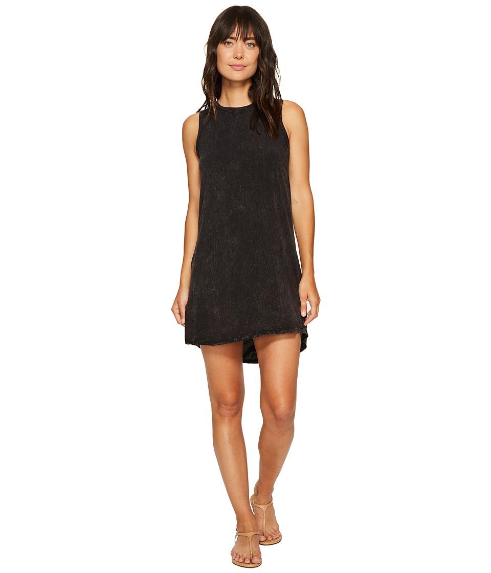 Allen Allen High-Low Tank Dress (Black) Women