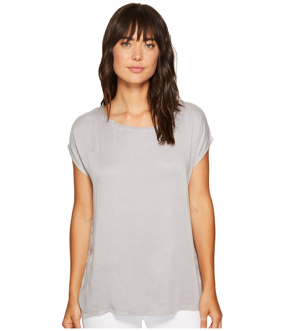 Allen Allen - Square Top Blouse (Pale Grey) Women's Blouse